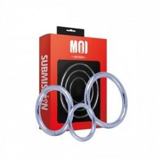 Mr. Threesome | Chromed Cock Ring 3 Set . Ø 40-45-50 mm.